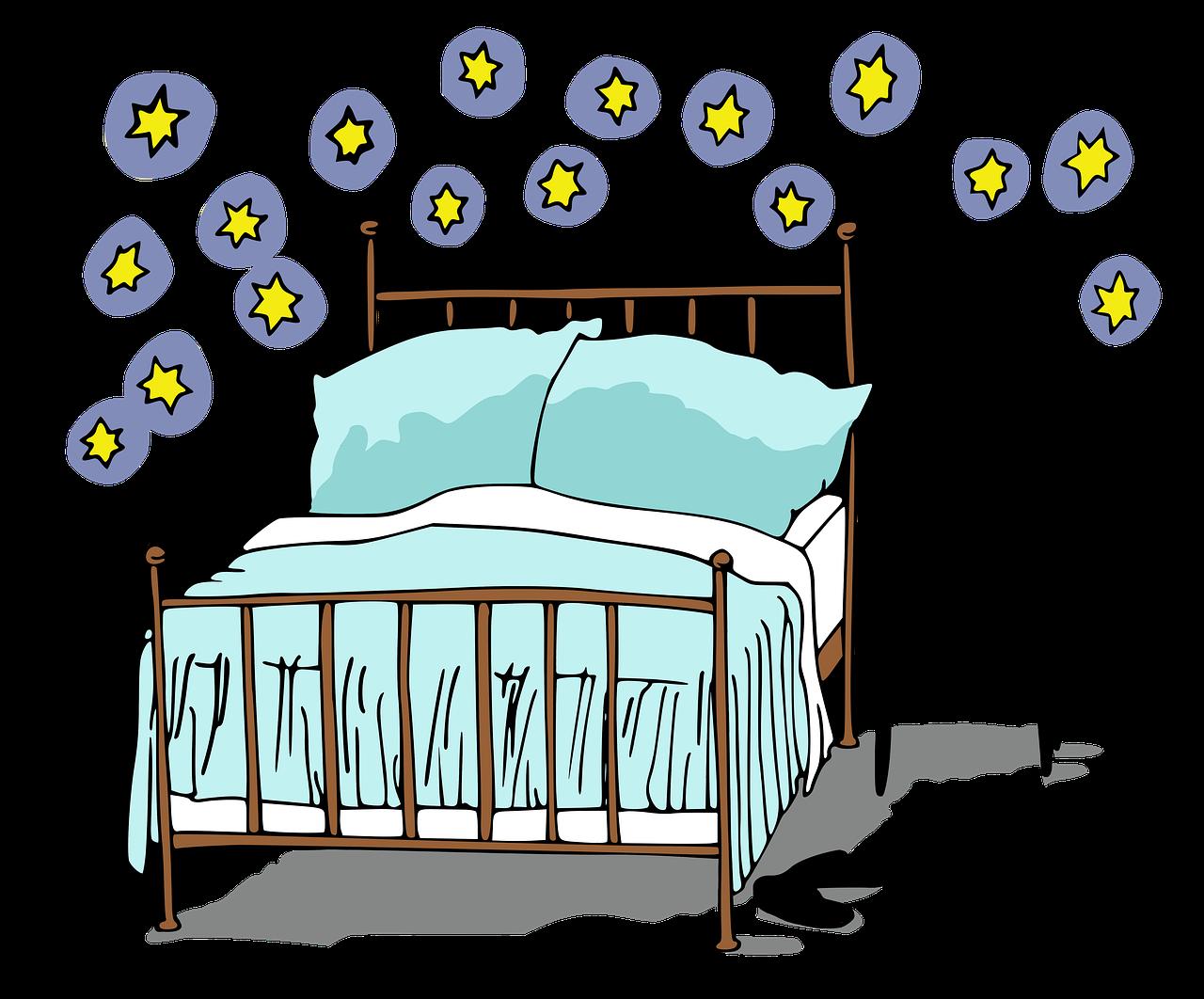 Bed Sleep Bedroom Pillow Furniture  - ArtRose / Pixabay